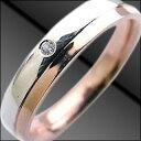 ペアリング ( Brand Jewelry Angerosa ) Pt・K18PGダイヤモンド【楽ギフ_包装】