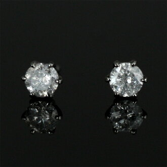 Wrapping free-piercing ◆ diamond earrings Platinum Diamond Earrings stud earring - QP