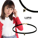 トライアングルチャームチョーカーネックレス ブラック ホワイト シンプル ファッション