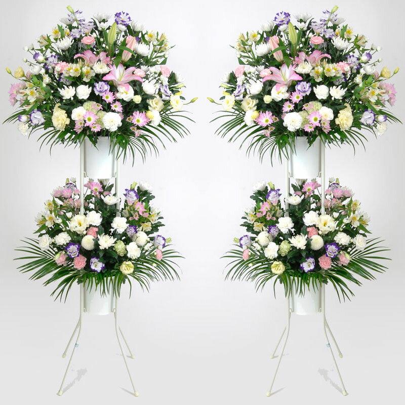 [お通夜・告別式の供花]地域風習や斎場の指定に合わせてお届致します。(FF-004-2)