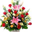 【豪華なアレンジ・バラ・ユリ】お祝い・お誕生日・結婚お祝・出産お祝・移転祝い・開店祝い・開業祝い・結