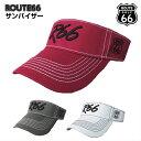ルート66ゴルフ☆バイザー 帽子 ☆ROUTE 66 ☆サンバイザー