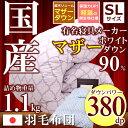 【お買い物マラソン最大2千円クーポン配布中】羽毛布団 シングルサイズ 超有名寝具メーカー製 マザーダ