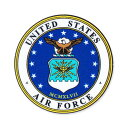 ショッピングエアフォース ミリタリー ステッカー US AIR FORCE エアフォース アメリカ空軍 アメリカン 車 おしゃれ かっこいい アウトドア スーツケース バイク カーステッカー 転写 紋章 【メール便OK】_SC-001-MIG