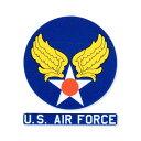 ショッピングエアフォース ミリタリー ステッカー US AIR FORCE エアフォース アメリカ陸軍航空軍 アメリカン 車 おしゃれ かっこいい アウトドア スーツケース バイク カーステッカー レトロ ウイング 転写 【メール便OK】_SC-006-MIG
