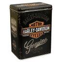 ショッピングハーレーダビッドソン ハーレーダビッドソン 小物入れ 収納 おしゃれ かっこいい ブリキ缶 バイク アメリカ アメリカン雑貨 ティンボックス Lサイズ HARLEY-DAVIDSON_SR-43106-HYS