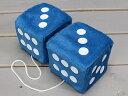 サイコロ ダイス カーアクセサリー カー用品 ルームミラー 飾り 車 ハンギングファジーダイス @1500 ブルー_CA-FD003BLWH-MON