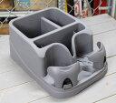 コンソール コンソールボックス 車内 収納 ドリンクホルダー 小物入れ カー用品 カーアクセサリー アメリカ チャコール_CA-IGSCCH-MON