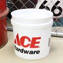 ショッピングバケツ バケツ 洗濯機 おしゃれ アメリカ 洗車 エースハードウェア ACE Hardware 約7.5リットル サイズS_BT-IGAC002-MON