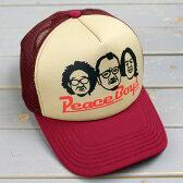 メッシュキャップ アメカジ メンズ レディース 帽子 夏 おしゃれ ワーク ピースキャップ パロディ PEP BOYS_CP-PUP08-SHO