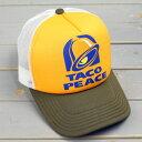 ショッピングメッシュキャップ メッシュキャップ アメカジ メンズ レディース 帽子 夏 おしゃれ ワーク ピースキャップ パロディ タコベル_CP-PUP11-SHO