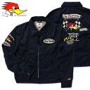 クレイスミス ジャケット スイングトップ ジャンパー ブルゾン メンズ バイク バイカー ファッション アメカジ Clay Smith CHARGING ネイビー_AP-CSY7190NY-MON