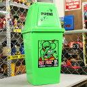 ショッピングごみ箱 ラットフィンク ゴミ箱 おしゃれ ふた付き スイング式 20L ホットロッド ネズミ Rat Fink アメリカ アメリカン雑貨 グリーンXグリーン_DB-RAF474GG-MON