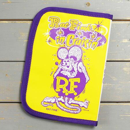 ラットフィンク 車検証入れ ケース かっこいい カー用品 カーアクセサリー キャラクター アメリカ Rat Fink イエロー 【メール便OK】_DF-RAF504YE-MON
