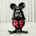 ショッピングTIB ラットフィンク フィギュア 限定 ソフトビニール キャラクター アメリカ ホットロッド アメリカン雑貨 Super Vinyl Collectible RatFink ピンクブラック_FG-RAF507BP-MON