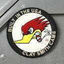 クレイスミス ワッペン アイロン キャラクター ウッドペッカー バイク アメカジ ジャケット トートバッグ Clay Smith BUILT IN THE USA アメリカ アメリカン雑貨 【メール便OK】_WP-CSYC054-MON