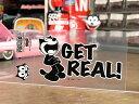 フィリックス・ザ・キャット ステッカー 車 アメリカン キャラクター おしゃれ バイク ヘルメット かっこいい フィリックス グッズ 雑貨 猫 カーステッカー FELIX THE CAT 転写タイプ GET REAL! 【メール便OK】_SC-KGAZF3348-MON