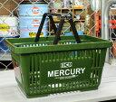 RoomClip商品情報 - マーキュリー バスケット 収納 かご ポリプロピレン おしゃれ マーケットバスケット 買い物かご 洗濯物 洗車 小物入れ アメリカ アメリカン雑貨 MERCURY カーキ_MC-MEMABAKH-MCR