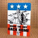 ショッピングFORCE サインプレート 看板 サインボード 標識 ミリタリー US AIR FORCE アメリカ空軍 BRING THE BOY BACK HOME アメリカ アメリカン雑貨_SP-CA52-SHO