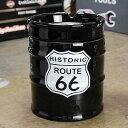 ルート66 灰皿 おしゃれ 陶器製 面白い ドラム缶 ROUTE66 アメリカ アメリカン雑貨_TW-029-HYS