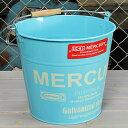 ショッピング洗濯機 マーキュリー バケツ 洗濯機 おしゃれ ブリキ MERCURY 洗車 キャンプ アウトドア アメリカ アメリカン雑貨 ブルー_MC-C118BL-MCR