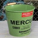 ショッピング洗濯機 マーキュリー バケツ 洗濯機 おしゃれ ブリキ MERCURY 洗車 キャンプ アウトドア アメリカ アメリカン雑貨 グリーン_MC-C118GR-MCR