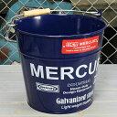 ショッピング洗濯機 マーキュリー バケツ 洗濯機 おしゃれ ブリキ MERCURY 洗車 キャンプ アウトドア アメリカ アメリカン雑貨 ネイビー_MC-C118NY-MCR