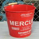 ショッピング洗濯機 マーキュリー バケツ 洗濯機 おしゃれ ブリキ MERCURY 洗車 キャンプ アウトドア アメリカ アメリカン雑貨 レッド_MC-C118RD-MCR