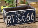 プランター おしゃれ 長方形 アンティーク 植木鉢 ルート66 ROUTE66 レクト ブルー アメリカ アメリカン雑貨_ZZ-NC525BL-FEE