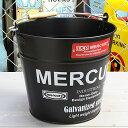 ショッピング洗濯機 マーキュリー バケツ 洗濯機 おしゃれ ブリキ MERCURY 洗車 キャンプ アウトドア アメリカ アメリカン雑貨 マットブラック_MC-C118MBK-MCR