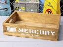 マーキュリー 木箱 ウッドボックス アンティーク調 収納ボックス リサイクルウッド MERCURY キャンプ アウトドア アメリカ アメリカン雑貨 ホワイト_MC-MEREWOWH-MCR