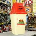 ショッピングごみ箱 ゴミ箱 おしゃれ ふた付き ダストボックス スイング インテリア アメリカ アメリカン雑貨 約20リットル CALIFORNIA REPUBLIC_DB-006-SHO