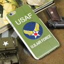 ショッピングFORCE ミリタリー iPhone6 iPhone6S ケース カバー US AIR FORCE アメリカ空軍 アイフォン6 ケース オリーブ 【メール便OK】_SA-AF11J-MLP