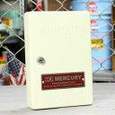 ショッピング下駄 マーキュリー キーボックス 壁掛け インテリア おしゃれ MERCURY 鍵 収納 アメリカ アメリカン雑貨 アイボリー_MC-C110IV-MCR