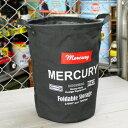 ショッピングゴミ箱 マーキュリー キャンバスバケツ バスケット ゴミ箱 小物入れ 収納 アメリカ アメリカン雑貨 サイズM ブラック_MC-MECABUMB-MCR