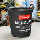 ショッピングバケツ マーキュリー キャンバスバケツ バスケット ゴミ箱 小物入れ 収納 植物 アメリカ アメリカン雑貨 サイズS ブラック_MC-MECABUSB-MCR