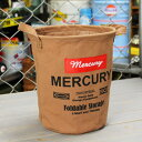 ショッピングバケツ マーキュリー キャンバスバケツ バスケット ゴミ箱 小物入れ 収納 植物 アメリカ アメリカン雑貨 サイズS キャメル_MC-MECABUSC-MCR