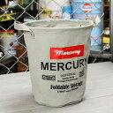 ショッピングバケツ マーキュリー キャンバスバケツ バスケット ゴミ箱 小物入れ 収納 植物 アメリカ アメリカン雑貨 サイズS グレー_MC-MECABUSG-MCR