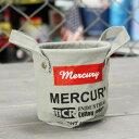 ショッピングバケツ マーキュリー キャンバスミニバケツ ペンスタンド 小物入れ 植物 アメリカ アメリカン雑貨 グレー_MC-MECAMBGY-MCR