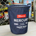 ショッピングバケツ マーキュリー キャンバスバケツ バスケット ゴミ箱 小物入れ 収納 アメリカ アメリカン雑貨 サイズM デニム_MC-MEDEBUM-MCR
