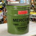 ショッピングバケツ マーキュリー オイル缶スツール バケツ スツール 収納 イス 洗車 オイル缶 アメリカ アメリカン雑貨 グリーン_MC-MEOISTGR-MCR