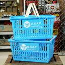 ショッピングFORCE US AIR FORCE(アメリカ空軍) バスケット 収納 かご プラスチック おしゃれ ミリタリー マーケットバスケット 買い物かご 洗濯物 洗車 小物入れ アメリカ アメリカン雑貨 サイズL 2個セット_SB-001L2P-SHO