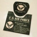 ショッピングエアフォース US AIR FORCE トイレマット セット ミリタリー カバー 便器 おしゃれ 世田谷ベース アメリカ空軍 アメリカ 雑貨 アメリカン雑貨_ZZ-81415-FEE