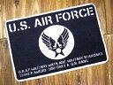 ショッピングFORCE US AIR FORCE 玄関マット 室内 屋内 おしゃれ ミリタリー フロアーマット バスマット アメリカ 雑貨 アメリカン雑貨 アメリカ空軍_FM-008-SHO