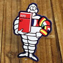 ステッカー 車 ミシュラン アメリカン おしゃれ バイク ヘルメット かっこいい タイヤ フランス ビバンダム ミシュランマン カーステッカー Michelin 国旗 【メール便OK】_SC-R446-TMS