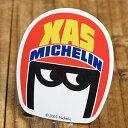 ステッカー 車 ミシュラン アメリカン おしゃれ バイク ヘルメット かっこいい タイヤ フランス ビバンダム ミシュランマン カーステッカー Michelin XAS 【メール便OK】_SC-R473-TMS