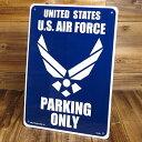ショッピングFORCE サインプレート 看板 サインボード 標識 駐車場 ミリタリー US AIR FORCE アメリカ空軍 アメリカ アメリカン雑貨_SP-CA28-SHO