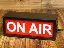 ショッピングラジオ ON AIR ライト ランプ 放送中 ボックスサインランプ アメリカ アメリカン雑貨_ZZ-005-SHO