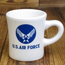 ショッピングFORCE ミリタリー マグカップ おしゃれ 陶器製 US AIR FORCE アメリカ空軍 アメリカ アメリカン雑貨_TW-004-HYS