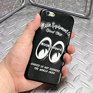 ムーンアイズiPhone6ケース(カバー)MOONEYESレザー製3Dジャケットの使用例